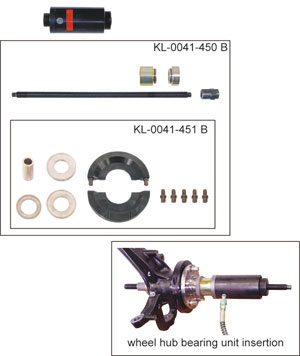 KLANN Upgrade Kit for Wheel Hub Bearing Unit Installation, VW-T5 (Bearing Ø 85 mm) (KL-0041-451B)-0