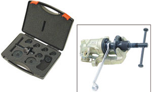 KLANN Brake Piston Push-Back/Wind-Back Kit, with 8 Adaptors, Storage Case (KL-0112-21A)-0