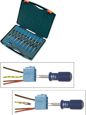 KLANN Terminal Tool Set for Push-On Contacts (KL-0190-28K)-0
