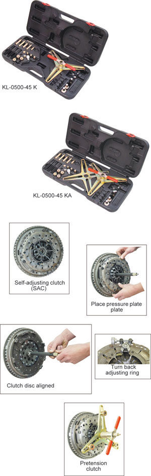 KLANN SAC Clutch Tool Kit (in a Plastic Storage Case) (KL-0500-45KA)-0